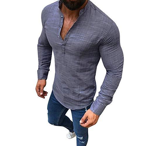 HROIJSL Herren Langarmshirt funktionskleidung Herren Sport große größen Outdoor Hemden Bekleidung Sale Sommer Angebote Marken modern Hemd t Shirt lang Langarm Rundhals Shirt