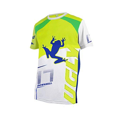 Uglyfrog Bike Wear Atmungsaktiv Trendy Herren Downhill/MTB Jersey Mountain Bike Shirt Fahrradtrikot Kurzarm Freeride BMX Top MF06