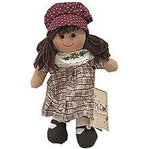 My Doll Vestito Pettorina Decorata Cuffia cw020 (28 cm) fc8dfcc9183