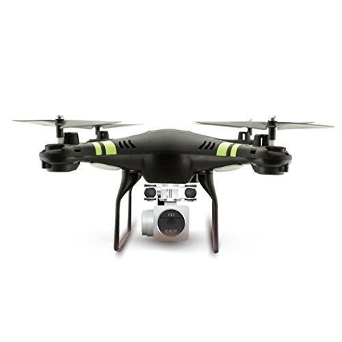 Oyedens Drone, 2.4G RC Drone Pieghevole RC Quadcopter 2MP WiFi FPV Telecamera di Controllo della Presa di Altezza Mini UFO Giocattoli per Bambini (Nero) Carnevale 2019
