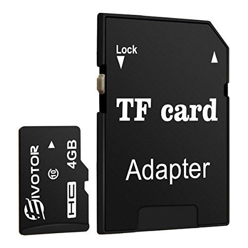 EIVOTOR Micro SD Karte 4GB Speicherkarte bis zu 80 Mbit/Sek Memory card SDHC Class10 Universal TF Flash Karte mit SD Adapter