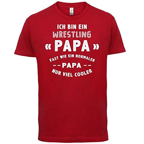 Ich bin ein Wrestling Papa - Herren T-Shirt - 13 Farben Rot