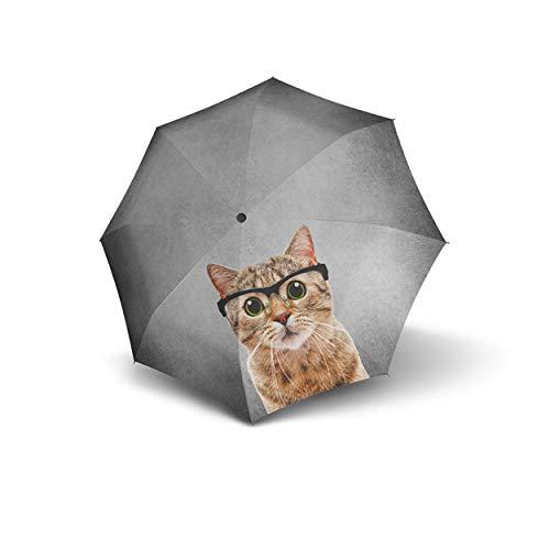 doppler Taschenschirm Modern Art Magic Mini - Sehr leicht - Automatik - Trendiges Design - Crazy Cat