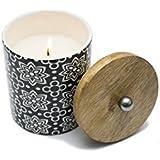 Limerick Home Printed Ceramic Jar Candle With Premium Fragrance Of Lime Basil Mandarin L Candle For Home L Candle For Bedroom L Candle For Living Room L Candle For Gifting L Premium Scented Candle