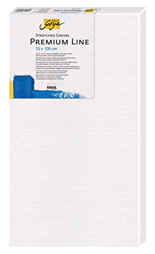 """Solo Goya Stretched Canvas Premium Line, Keilrahmen in Premiumqualität, Leinwand aus Baumwolle 4 Fach Grundiert, ideal für Öl-, Acryl- und Gouachefarben, circa"""" 70 x 100 cm"""