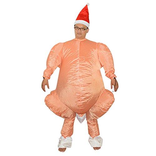 kei Aufblasbare Kostüm Outfit Erwachsene Erntedankfest Thanksgiving Day Kostüm (Aufblasbare Truthahn Kostüm)