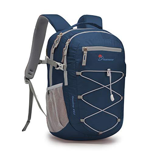 MOUNTAINTOP 22 Liter Rucksäcke Damen Herren Backpack Wanderrucksack Trekkingrucksack Outdoorrucksack Daypacks (Dunkelblau-NEU)