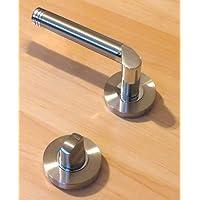 Türdrücker Türbeschlag Edelstahl NewStyle Drücker Tür WC-Tür Rosettenversion Drückergarnitur Türgriffe Türbeschläge Toilettentür - Badezimmertür
