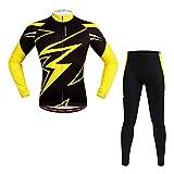 MTSBW Radfahren Jersey Hosen Fahrrad Langarm Anzug Frühling Und Herbst Ärmel Schnell Trocknende Silikon Pad Outdoor Sports,S