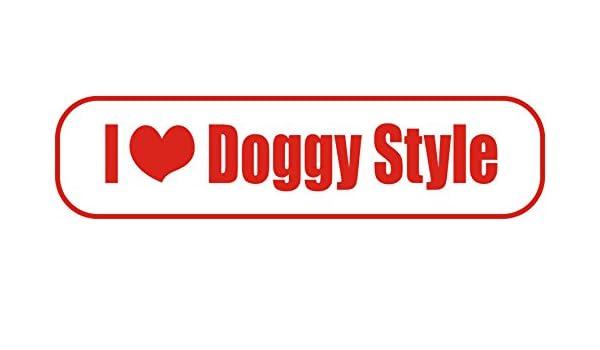 Magnetfolie f/ür Auto//LKW//Truck//Baustelle//Firma INDIGOS UG Magnetschild I Love Doggy Style 30 x 8 cm
