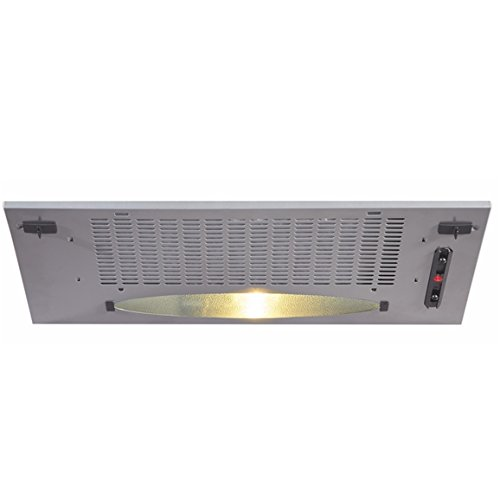CDA cca5si Integrated Cooker Hood - Cooker Hoods (Silver 370 M/h 370 M/h,  LED/RECIRCULATION, DB, built, 2 x Silver (S))