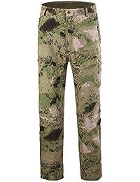 Sylar Pantalones Hombre Trekking Camuflaje Impermeable A Prueba De Viento Pantalones Al Aire Libre Pantalones De Gore Pantalones Trabajo S-3XL