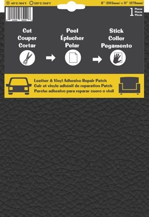 Pelle Patch Pièce adhésive de réparation de Cuir et Vinyle (Gris Foncé)