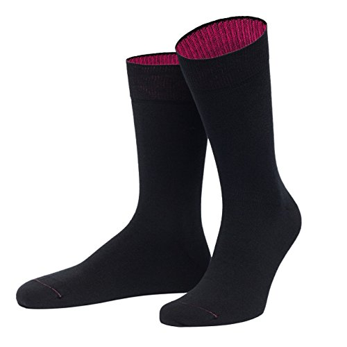 von Jungfeld - Herren Socken/Strumpf Herrensocken Baumwolle 1 Paar 39-41 schwarz
