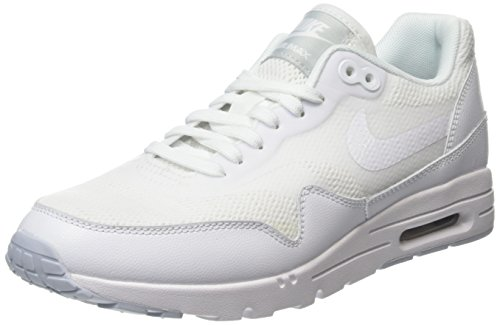 Nike Air Max 1 Ultra Essentials, Chaussures de Running Entrainement Femme Blanc (White/White/Pure Platinum)