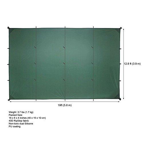 41hgQ0dDISL. SS500  - Aqua Quest Guide Tarp - 100% Waterproof Ultralight RipStop SilNylon Backpacking Rain Fly - 3x2, 3x3, 4x3, 6x4 Green or…