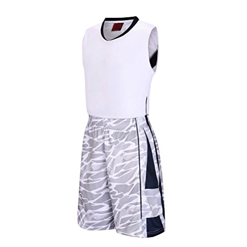 Zhhlaixing Mens Camouflage Breathable Sleeveless Gli sport Basketball Training Wear White