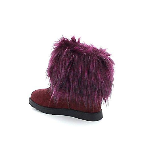 Boots en fourrure synthétique Prune