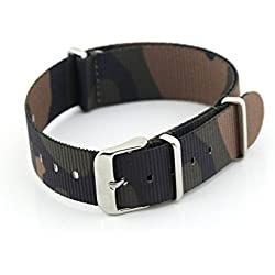 Owfeel(TM) Camouflage Color Nylon Watch Band Strap Replacement Watch Belt