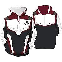 Mens 3D Hoodie Cosplay Cosume Avenger's Endgame Hoodie Super Hero Pullover Advanced Tech Uniform Quantum Realm Zipper Jacket Sweatshirt (XL,Wine White-1)