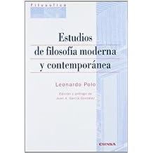 Estudios de filosofía moderna y contemporánea (Colección filosófica)