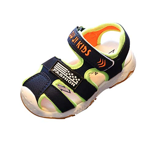 Fannyfuny Kinderschuhe Jungen Mädchen Sport Sandalen Unisex-Kinder Sandalen Outdoor Klettverschluss Ultraleicht Breathable Wanderschuhe Atmungsaktiv Anti-Rutsch-Weiche Strapazierfähige Strandschuhe (, Kleinkind, Größe 7 Nike Schuhe)