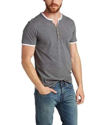 ESPRIT Men's V-Neck Short Sleeve T-Shirt -  Grey - XX-Large