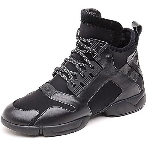 primavera de zapatos de moda de primavera/ zapatos de cuero casual/Zapatos del tablero/Redondo tubo en las zapatillas de la cinta de la cabeza