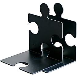 Han 9212-13 - Soporte para CD/sujetalibros con forma de puzzle (2 unidades), color negro [importado de Alemania]