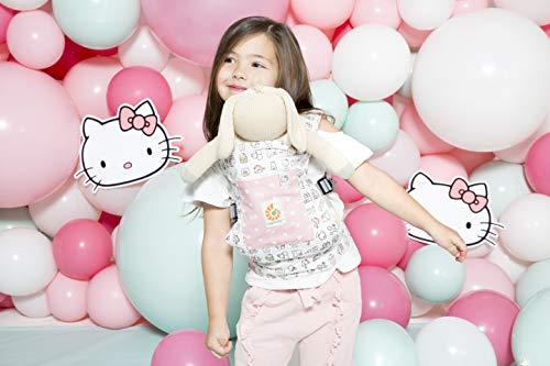 Imagen para Ergobaby Mochila Portamuñecas de Juguete para Niños Pequeños, Estilo Hello Kitty Play Time, Porta Muñecas 100% Algodón