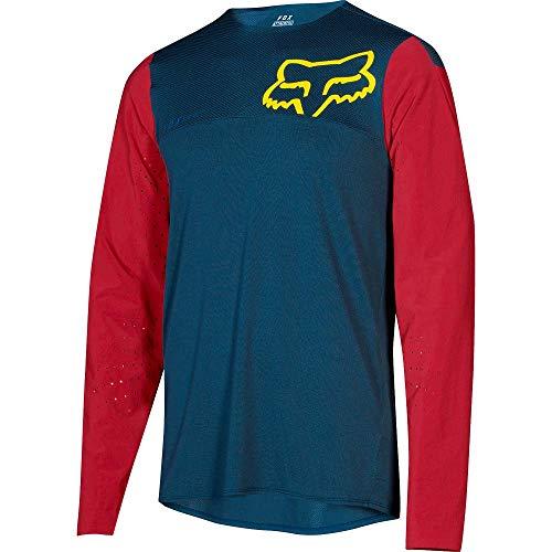 Fox Trail-Jersey Langarm Attack Pro Blau Gr. L Fox Attack Jersey