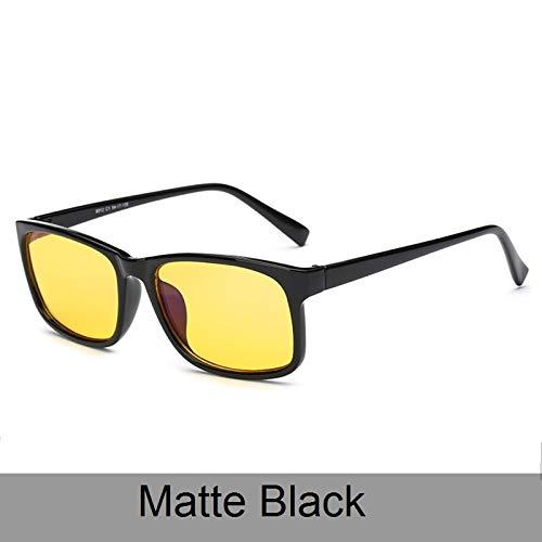 LKVNHP Retro Kunststoff Sonnenbrille Polarisierte Frauen Männer Brillen Zubehör Fahren Sonnenbrille Männlich GogglMattschwarz
