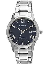 Citizen Herren-Armbanduhr XL Analog Quarz Edelstahl AW1231-58L