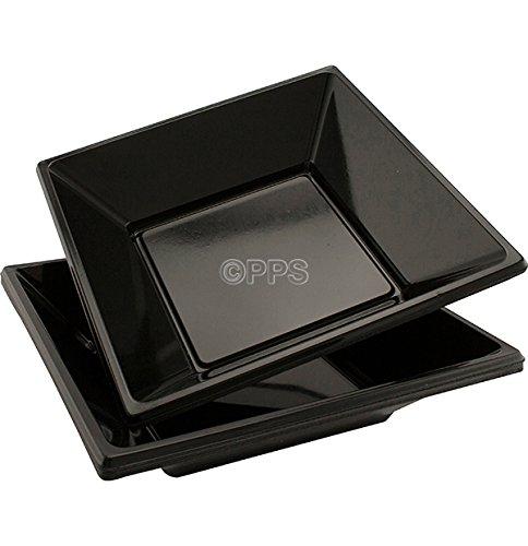 24x schwarz Einweg Kunststoff Schalen-Maurerhammer/18cm ideal für Partys-Kostenlose Lieferung Schwarz Schale