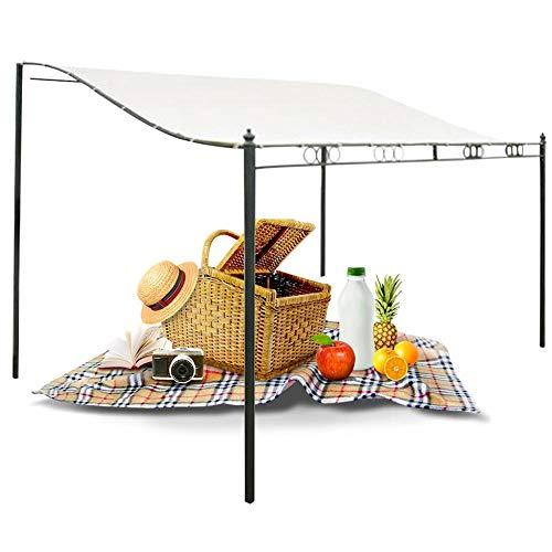 Wenhu Dachzelt Sun Shelter wasserdichte Markise Patio Garten Picknick Pavillon im Freien Strand Markise Sonnenschirm Tuch,2.6X2.5M