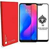 [in Stock] CELLUTION™ Full Glue 100% Coverage 5D Tempered Glass, Full Edge-to-Edge Screen Protector For Xiaomi Redmi 6 Pro (2018) - Black