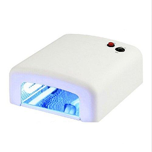 UV Lampara 36W para uñas + Aceite de cutícula 15ml de Regalo/Lámpara 36W Ultravioleta/Ideal para uñas/Esmaltado Permanente/Shellac