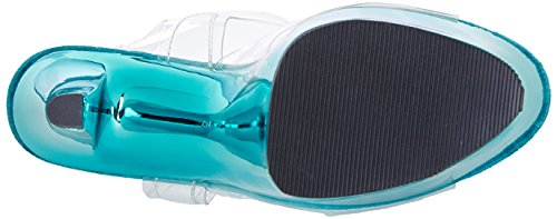 Pleaser PleaserSky308/c/hpch - Sandali Donna Turchese (Clr/Turquoise Chrome)
