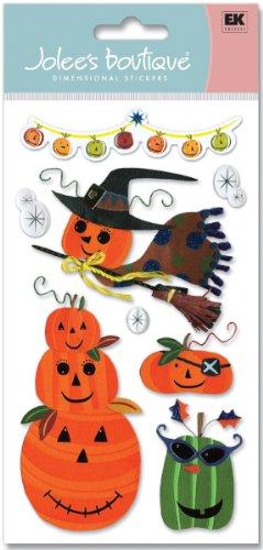 Jolees 341115 Jolees Boutique Le Grande Dimensional Halloween Sticker-Pumpkins