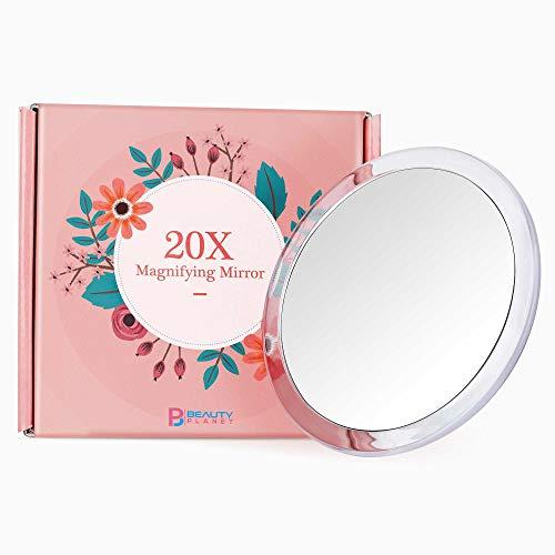 Versión 2020 actualizada, 5 pulgadas, espejo de aumento 20X con tres ventosas, uso para aplicación...