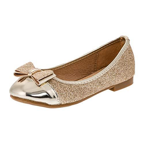allerina Schuhe in vielen Farben für Party und Freizeit M283go Gold Gr.35 ()