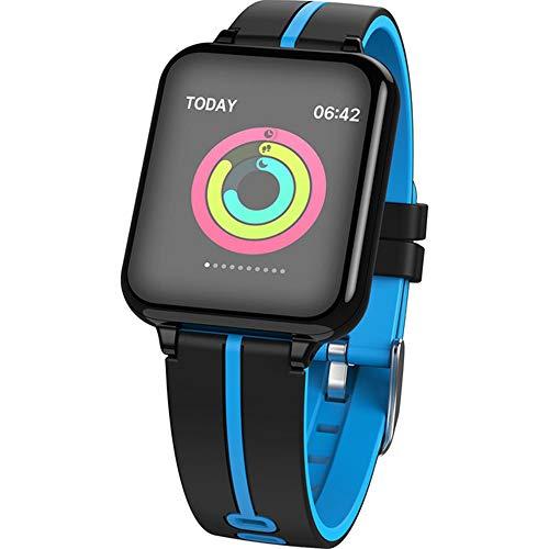 WTYCHS Aktivitätstracker Smart Watch Männer Frauen Für Android Apple Phone Wasserdichter Pulsmesser Blutdruck Sauerstoff Sport Smartwatch IP78 wasserdicht, Blau
