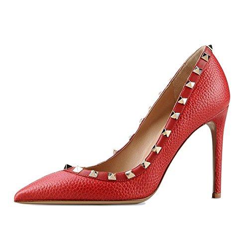 EKS Escarpins Pour Femme Linien-Rot