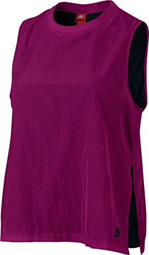 Nike Sportswear Tech Hypermesh Sleeveless Shirt True Berry Black Black 846447 665 - Nike Womens Sleeveless Tee