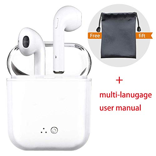 Auriculares Bluetooth, audífonos inalámbricos, audífonos con micrófono Estéreo, cancelación de Ruido Compatible con iPhone X XS 8 7 6 Plus Samsung Huawei Android iOS Smartphone PC