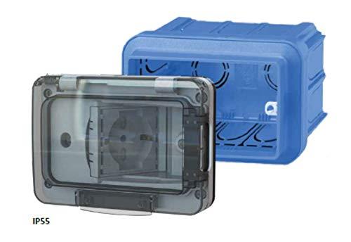 Zoom IMG-1 4box wide ip55 presa impermeabile