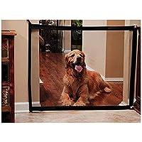Puerta de escalera para perros, puerta mágica, puerta de malla de 180 x 72 cm, protección de seguridad portátil para perros, mascotas, para mantener a los perros alejados de la cocina/escalera/puerta