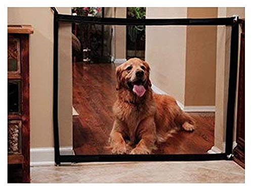 DOCA Hunde Treppen Zaun Schutzgitter - 180 x 72 cm Hundr Baby Pet Mesh Magic Gate Zaun Treppe Tragbar Sicherheitter Guard Weg von Küche/Upstairs/Tür