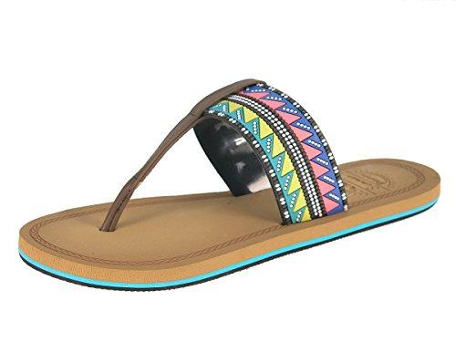 Beppi Damen pantoufles flip flops pantoufles sandales dété Brun