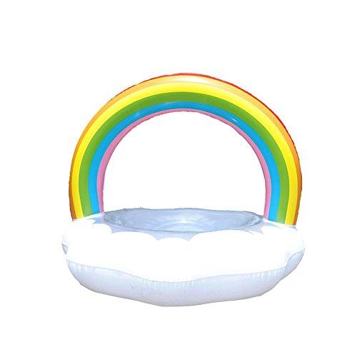 Riesige aufblasbare Rainbow Schwimmen Ring mit Pumpe, Outdoor Schwimmen Life Buoy Rutscher Pool Floatie Float Spielzeug für Erwachsene Kinder